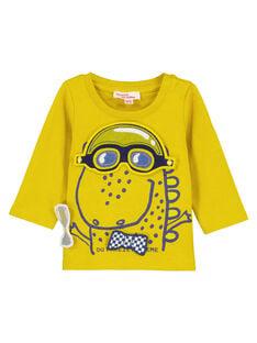 Yellow T-shirt GUJAUTEE1 / 19WG10H2TMLB114