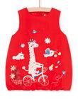 Baby girl red dress LICANROB4 / 21SG09M2ROBF505