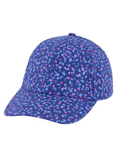 Girls' floral print cap GYABLECAP / 19WI0191CHAC226