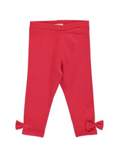Baby girls' red leggings CYIJOLEG3 / 18SI09R3CALF518