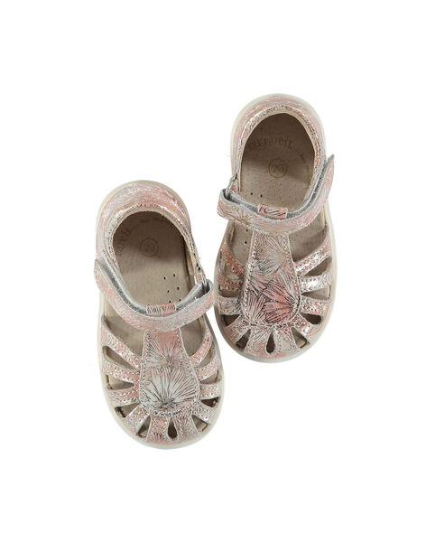 Baby girls' smart leather sandals FBFSANDPIX1 / 19SK37C4D0E030