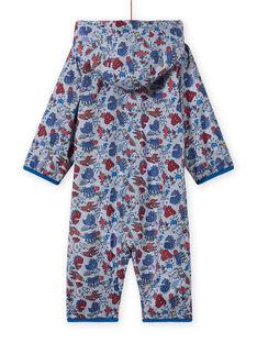 Baby boy's grey dinosaur print rain suit MUGROCOM / 21WG1051CBP943