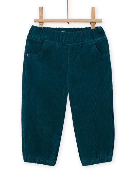 Baby Boy Corduroy Duck Blue Pants MUJOPAN1 / 21WG1011PAN714