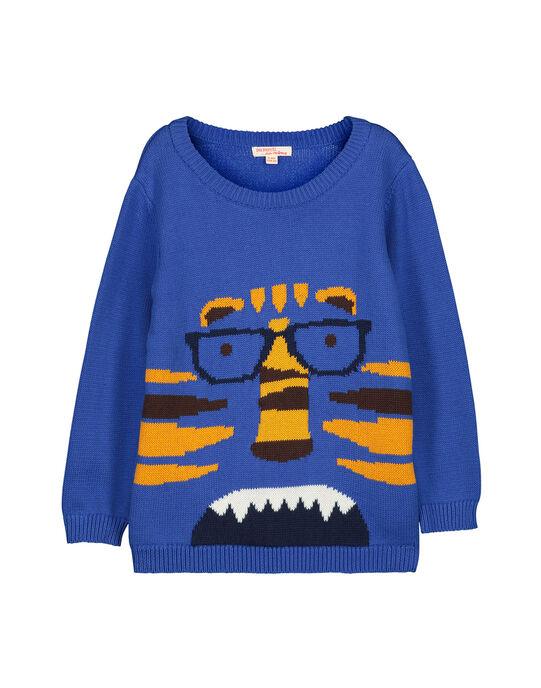 Boys' cotton knit sweater FOBAPUL / 19S90261PULC212