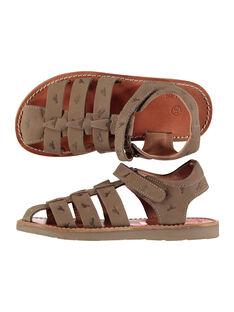 Boys' smart leather sandals FGSANDINO2 / 19SK36C2D0E803