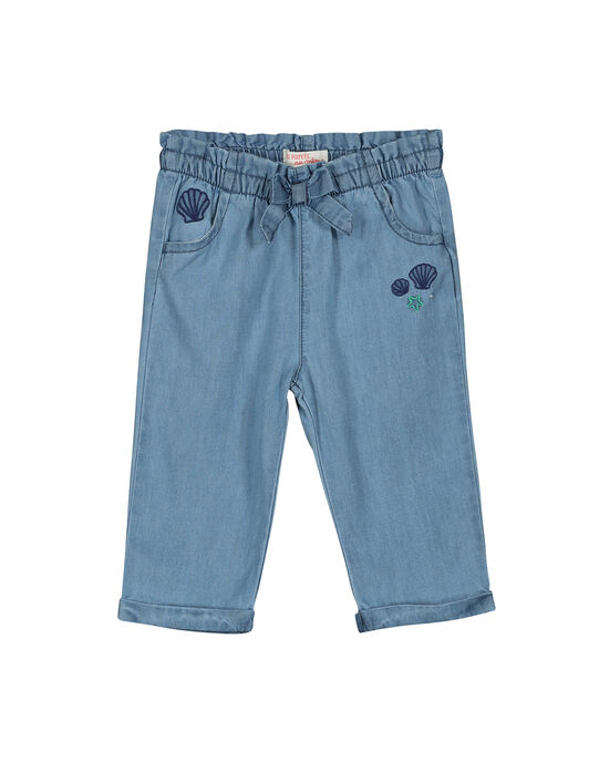 Navy pants FINEPAN / 19SG09B1PAN721