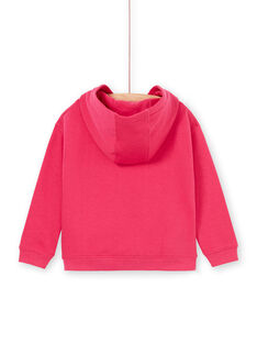 Pink hoodie with parrot motif embroidered LANAUSWEA / 21S901P1SWEF507