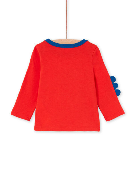 Red and blue baby boy t-shirt LUCANTEE1 / 21SG10M1TMLF505