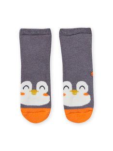 Baby Boy Grey Penguin Socks MYUJOCHOB3 / 21WI1015SOQJ918