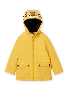 Boy's yellow tiger raincoat MOGROIMP1 / 21W90251D59B116