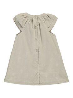 Baby girls' velour dress DICHOROB3 / 18WG09F1ROB007