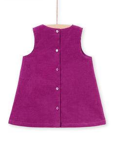 Baby girl purple sleeveless dress MIPAROB3 / 21WG09H4ROB712