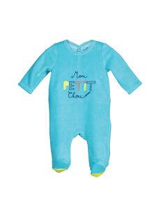 Baby boys' velour sleepsuit FEGAGRETYP / 19SH1445GRE202