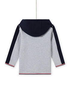 Boy's grey and navy blue hooded jogging top MOJOJOH3 / 21W90211JGHJ922