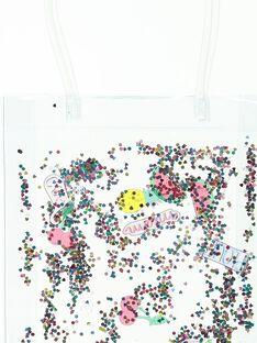 Girls' transparent glitter bag CAPLABAG / 18SI01Q1BES961