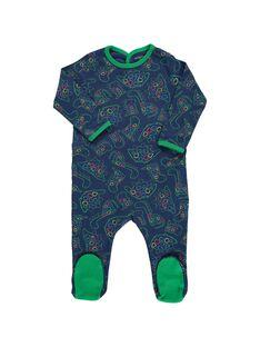 Baby boys' cotton sleepsuit DEGAGREAOP / 18WH14B6GRE099