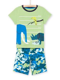 Boy's green and blue pajamas LEGOPYCANI / 21SH12C8PYJ617