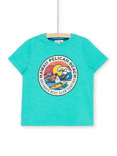 Short sleeve t-shirt green child boy LOBONTI6 / 21S902W1TMC600