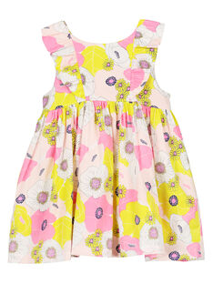 Baby girls' cotton satin dress FIPOROB2 / 19SG09C2ROB099