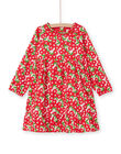 Long-sleeved dress with floral print LAROUROB1 / 21S901K1ROBF517