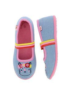 Girls' ballet pump slippers CFBALTIGR / 18SK35X4D07C218