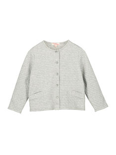 Girls' glitter fleece cardigan FAJOCAR4 / 19S901Y4D3C943