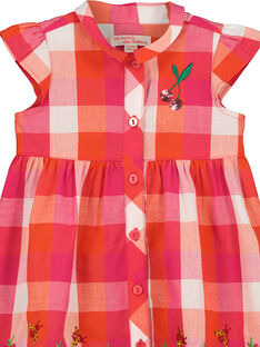 Baby girls' checked dress FIYEROB4 / 19SG09M4ROB000