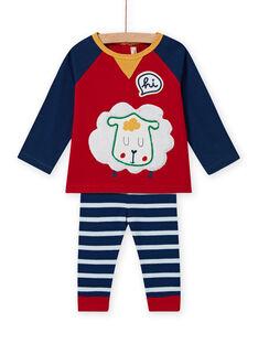 Baby boy's striped leggings and T-shirt set MUMIXENS / 21WG10J1ENS505
