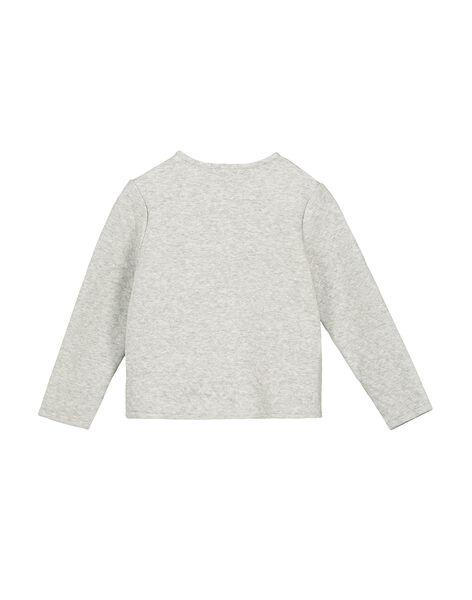 Girls' light grey padded cardigan FAJOCAR1 / 19S901Y1D3C943