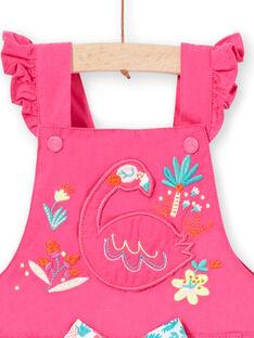 Girl's pink overalls dress LIBONROB1 / 21SG09W2ROB302
