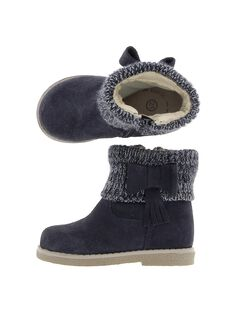 Baby girls' leather boots DBFBOTRICO / 18WK37T2D10070