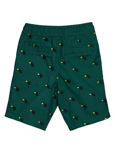 Boys' printed green shorts GOVEBER1 / 19W90221BERG614