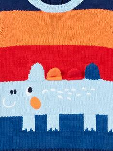 Baby boy sky blue sweater LUCANPUL / 21SG10M1PUL020
