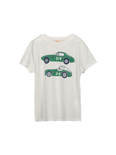 Boys' fancy short-sleeved T-shirt FOJOTI6 / 19S90236D31000