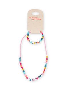 Girl's multicolored heart beads necklace MYAJOCOU1 / 21WI01S1CLI961