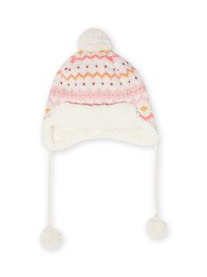 Baby girl's fawn knit hat MYISAUBON1 / 21WI0954BON001