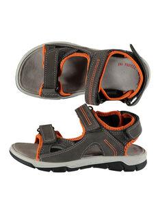 Boys' smart sandals in two fabrics FGSANDORIO / 19SK36K1D0E803