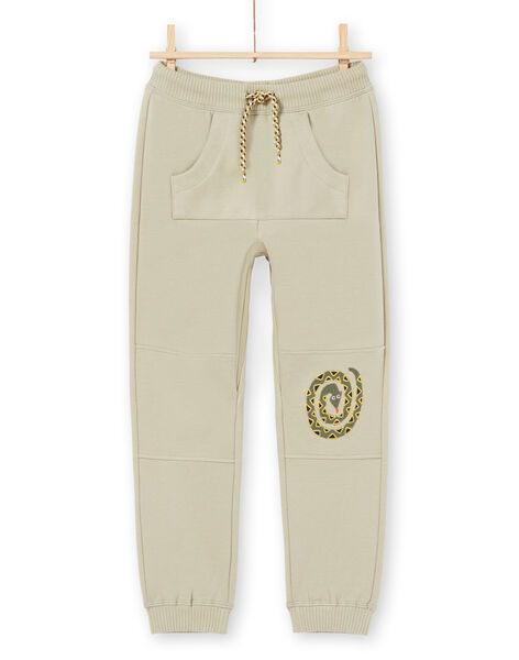 Boy's khaki jogging suit MOKAJOG1 / 21W902I1JGB612