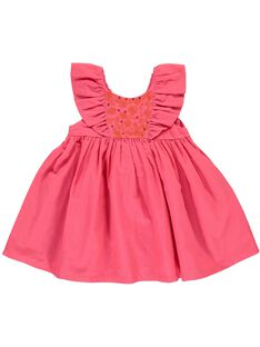 Baby girls' short-sleeved dress CIFRIROB2 / 18SG09H1ROBD312