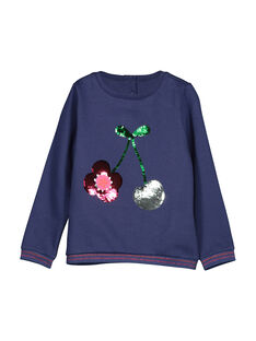 Girls' reversible sequin sweatshirt FACOSWEA / 19S90181SWE703
