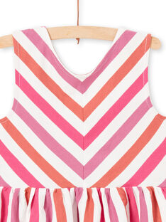 Girl's striped dress LATEROB4 / 21S901V2ROB001