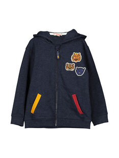 Boys' zipped hoodie FOBAGIL / 19S90261GIL070