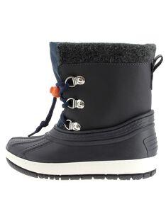 Boys' fur lined snow boots DGMONTGI / 18WK36X2D3N070