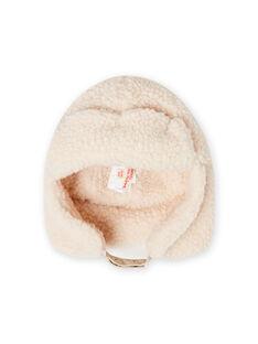 Boy's sherpa hat in ecru MYOGROCHAP1 / 21WI026ABON009