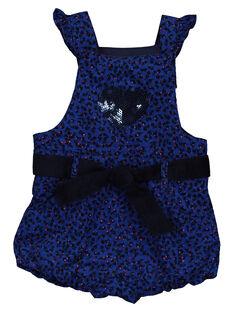 Baby girls' printed dungarees GIBLESAC / 19WG0991SACC226