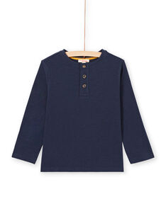 Baby boy long sleeve t-shirt with tunisian collar MOJOTUN1 / 21W90212TML705