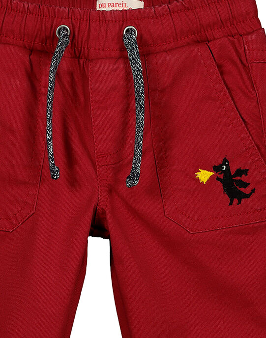 Boys' fancy red trousers GOVEPAN / 19W90221PANF508