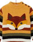 Striped chenille sweater child boy MOSAUPUL / 21W902P1PULB107
