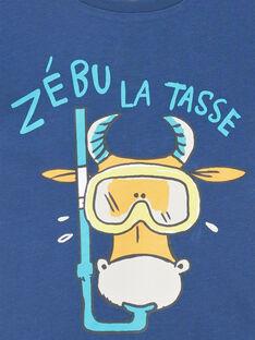 T-shirt short sleeves navy blue child boy LOJOTI10 / 21S902F2TMC070