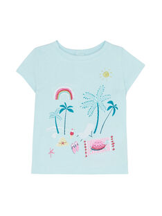 Ice blue T-shirt JIQUATI / 20SG09R1TMC219